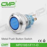 19mm leuchtete Energien-dem Druckknopf in des Edelstahl-LED