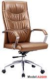Cadeira executiva de madeira da saliência do couro elevado da mobília de escritório traseiro (A2014-1)