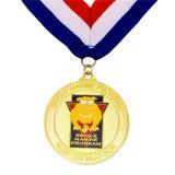 昇進金カラーのダイカストの金メダルのギフトの名誉のホールダーの締縄を