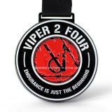 工場カスタム黒いカラースポーツの金属メダル