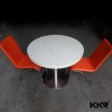 Handelsmöbel-künstlicher weißer Gaststätte-Steintisch