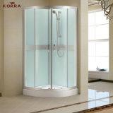 Deslizando o quarto de chuveiro completo com chuveiro da mão (silkscreen branco)