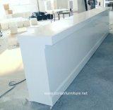 Weißer fester Oberflächenempfang-Stab-Kostenzähler-acrylsauerschreibtisch, Gaststätte-Kostenzähler