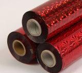 金のホログラフィック熱い押すホイル/熱伝達/アルミニウムフィルム