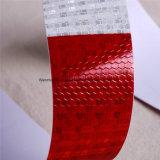 熱い販売DOT-C2蜂蜜の櫛のタイプPVC結晶格子の安全赤くおよび白いトラックの反射テープ