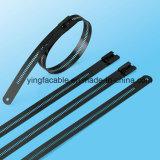 tipo cintas plásticas do fechamento da farpa da escada de 7.0X445mm multi dos Ss com revestimento