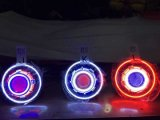 7 pouces J Eep LED / HID Starry Headlights avec diable Demon Eye et LED Angel Halo