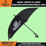 Parapluie de publicité droit de golf de fibre de verre