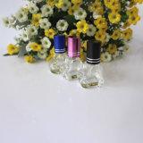 Rolo de vidro vazio em frascos de perfume do frasco com tampão plástico