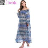 Mulheres Summer Celeb Style Manga comprida Maxi Long Beach Dress Ty1021
