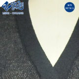 Schwarze lange Hülse steckt Perspektive V-Stutzen reizvolle Form-Bluse ein