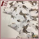 Padrão zebra 100% tecido crepe de viscose