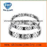 De manier Aangegane Armband van het Paar van het Staal van het Titanium met de Juwelen van het Roestvrij staal