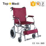 ألومنيوم يتيح ثني كرسيّ ذو عجلات يدويّة مع [فووتبلت] [تو805لبج]
