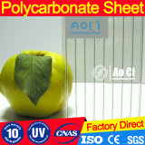 Folha de plástico de policarbonato oco de alta qualidade com revestimento UV