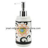 Accessorio di ceramica della stanza da bagno della decalcomania moderna del fiore/accessorio del bagno/insieme della stanza da bagno