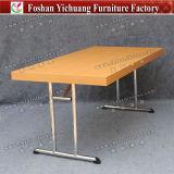 Складной столик Yc-T192-01 банкета ног нержавеющей стали верхней части таблицы меламина