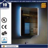 Specchio Backlit chiaro decorativo del rilievo LED del dispositivo antiappannante della stanza da bagno