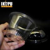 Gelato/tazza di plastica a gettare liberi del yogurt stampati abitudine