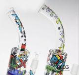 Neuer Entwurfs-bunter Miniöl KLEKS Anlage-Recycler-Marmor Inline-Perc Glaswasser-Rohr