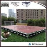 Plataforma de madeira de alumínio portátil de palco móvel para evento