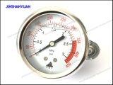 Manómetro industrial Og-013 con la abrazadera - calibrador de presión llenado líquido