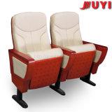 Jy-999d Oficina Venta al por mayor Recliner Inglés Películas Pieza de madera con escritura Tablet Conferencia asientos Teatro sillas para sala de reuniones
