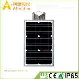 8W 5 años de la garantía de calle de la luz de lámpara de pared solar integrada con el sensor de PIR