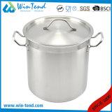 05の様式のステンレス鋼は熱伝導の影響の結合の底蒸気の食糧Stockpotを紙やすりで磨いた