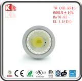 램프가 고품질에 의하여 7W 630lm MR16 LED Dimmable 12V 점화한다
