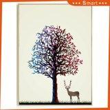 2017 оптовой индивидуальные масляной живописи с оленями животных с возможностью горячей замены