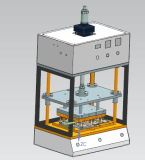 Máquina de fusión caliente para el lacre impermeable de la ropa