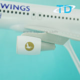 """A320 1:100 37.6cm """"het Plastic Model van het Vliegtuig van Vleugels Cham """""""