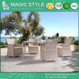 Chaise de salle à manger en plein air par un tissage spécial Ensemble de salle à manger avec table Ensemble à manger en bois Ensemble à manger en osier Chaise à manger en jardin Meuble pour projet d'hôtel