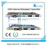 Transmisor óptico externo Sbs 13-19dBm Adj-FWT-1550eh-2X9 de la fibra de Hfc 1550nm CATV