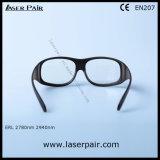 2700-3000nm gafas de seguridad de laser D6+/2780nm del O./protección Eyewear para Er los lasers con el marco 33