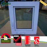 Fenêtre vitrée à vitre manuelle à vapeur à vapeur en PVC moderne