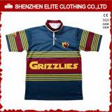 Camisa barata al por mayor del rugbi del poliester de la sublimación del profesional de club (ELTRJJ-154)