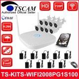 macchina fotografica senza fili del IP del richiamo dei kit di 8CH 720p HD WiFi NVR