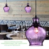 Indicatore luminoso Pendant variopinto della bottiglia di vetro per il ristorante (GD-640-1ABC)