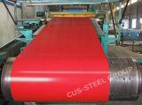 A cor de Ral Prepainted a bobina de aço revestida Aluzinc da chapa de aço do Galvalume