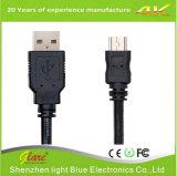 Короткий кабель заряжателя USB длины 15cm микро-