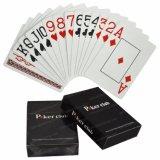 Luxo preta jogo de cartas de jogar poker de PVC de recreação