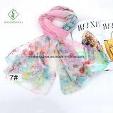 Nuova signora Fashion Silk Scarf di disegno con lo scialle stampato Sakura
