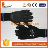 Guanto nero del rivestimento del lattice di Ddsafety 2017 spazzolato allineando i guanti di funzionamento di sicurezza