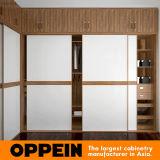 Oppein Walnut em forma de U guarda-roupa com portas deslizantes (YG16-A02)