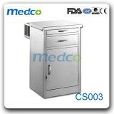 Mobiliário para medicina armário de leito hospitalar de Aço Inoxidável Tabela CS006