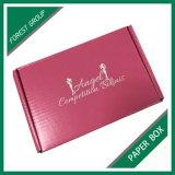 Mayorista personalizados en papel rosa plegable Embalaje Embalaje de bosque (021)