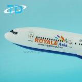 Insignia del modelo B777-200 Royale Asia de la resina de los aviones del cargo