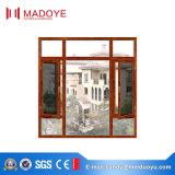 Stoffa per tendine di alluminio Windows di offerta dorata del fornitore della Cina con lo schermo della mosca
